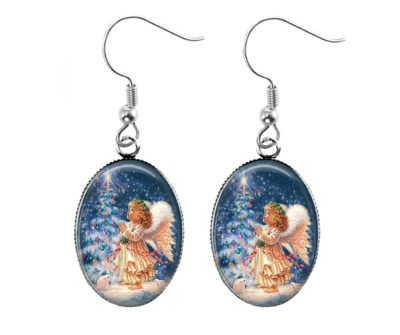 Christmas Angel Earrings Christmas & Thanksgiving