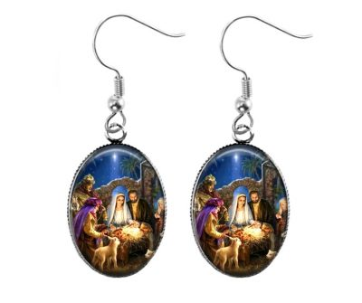 Nativity Earrings Christmas & Thanksgiving