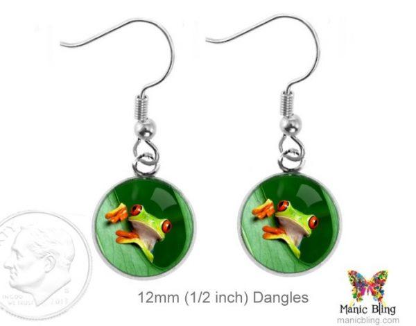 Tree Frog Earrings Dangle Earrings