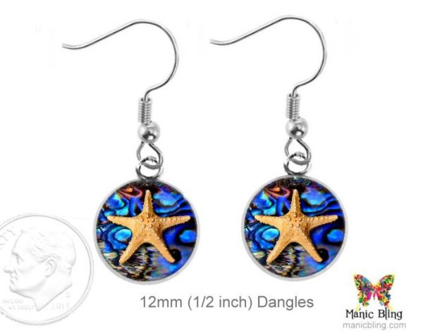Small Starfish Earrings Dangle Earrings