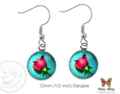 Rose Earrings Dangle Earrings