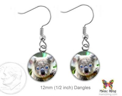 Koala Bear Earrings Dangle Earrings