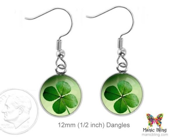 4 Leaf Clover Earrings Dangle Earrings