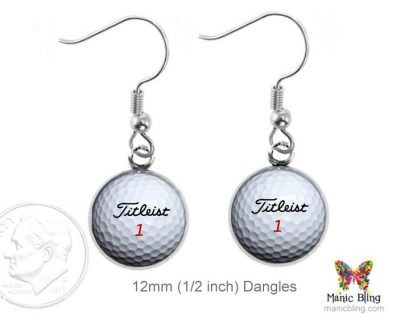 Golf Earrings Dangle Earrings