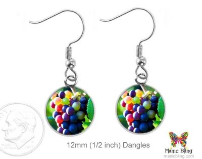 Wine Grape Earrings