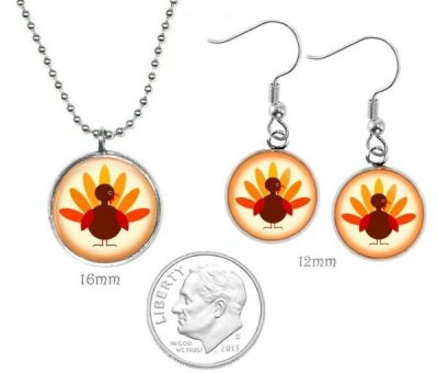 Small Thanksgiving Jewelry Set Christmas & Thanksgiving