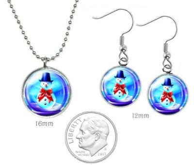 Small Snowglobe Jewelry Set Christmas & Thanksgiving
