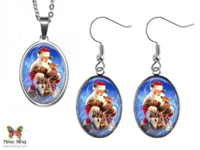 Woodland Santa Jewelry Set Christmas & Thanksgiving