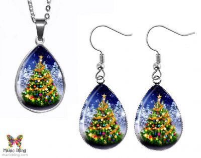 Teardrop Tree Jewelry Set Christmas & Thanksgiving