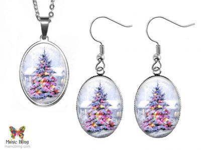 Snow Tree Jewelry Set Christmas & Thanksgiving