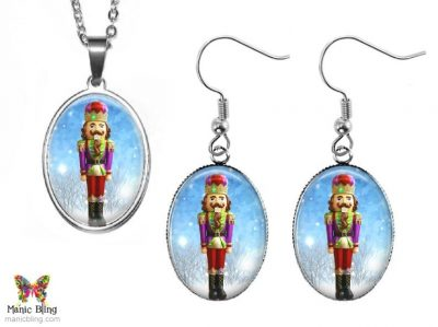 Nutcracker Jewelry Set Christmas & Thanksgiving