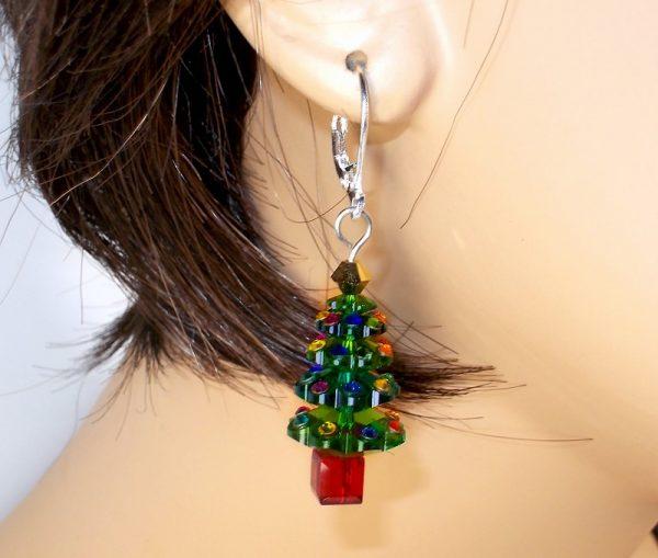 Swarovski Christmas Tree Earrings Christmas & Thanksgiving
