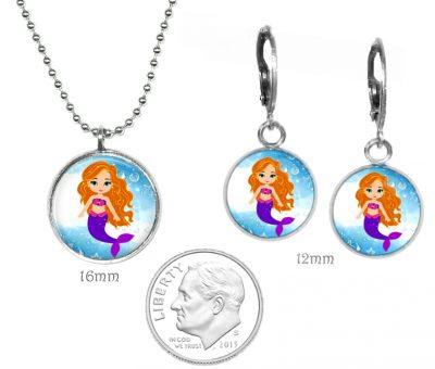 Girls Mermaid Necklace Set Just for Kids