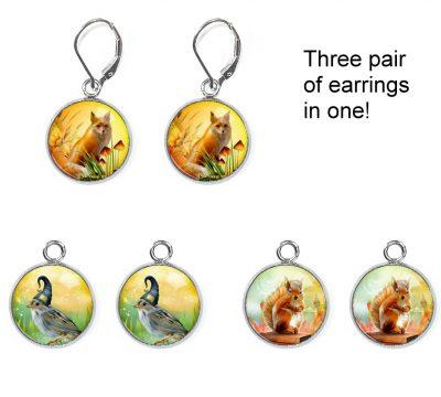 Forest Animals Earrings Set Earrings