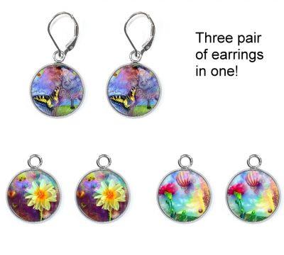 Fantasy Garden Earrings Set Earrings