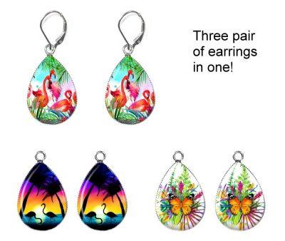 Tropical Interchangeable Earrings Earrings