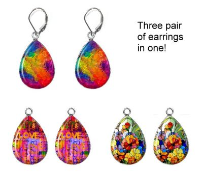 Abstract Interchangeable Earrings Earrings
