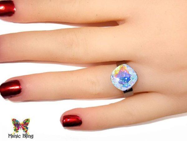Swarovski Crystal Clear AB Ring Fashion Rings