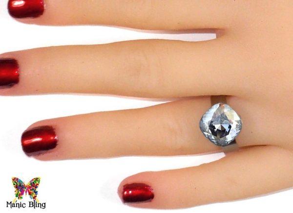 Swarovski Crystal Blue Shade Ring Fashion Rings