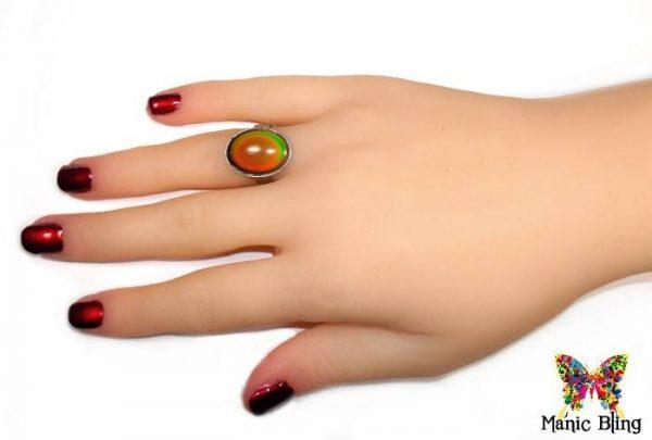 Glass Mood Ring Fashion Rings