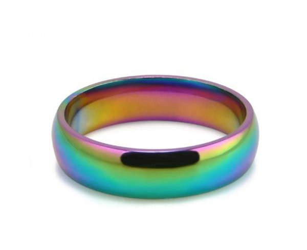Colorful Stainless Steel Band Ring Fashion Rings