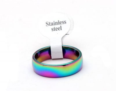 Colorful Stainless Steel Band Ring