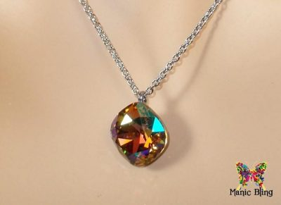 Swarovski Crystal Light Colorado Topaz AB Pendant