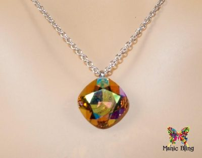 Swarovski Crystal Light Colorado Topaz AB Pendant Necklaces & Pendants