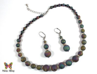 Rainbow Druzy Beaded Necklace Necklaces & Pendants