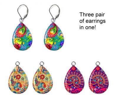 Paisley Interchangeable Earrings Earrings