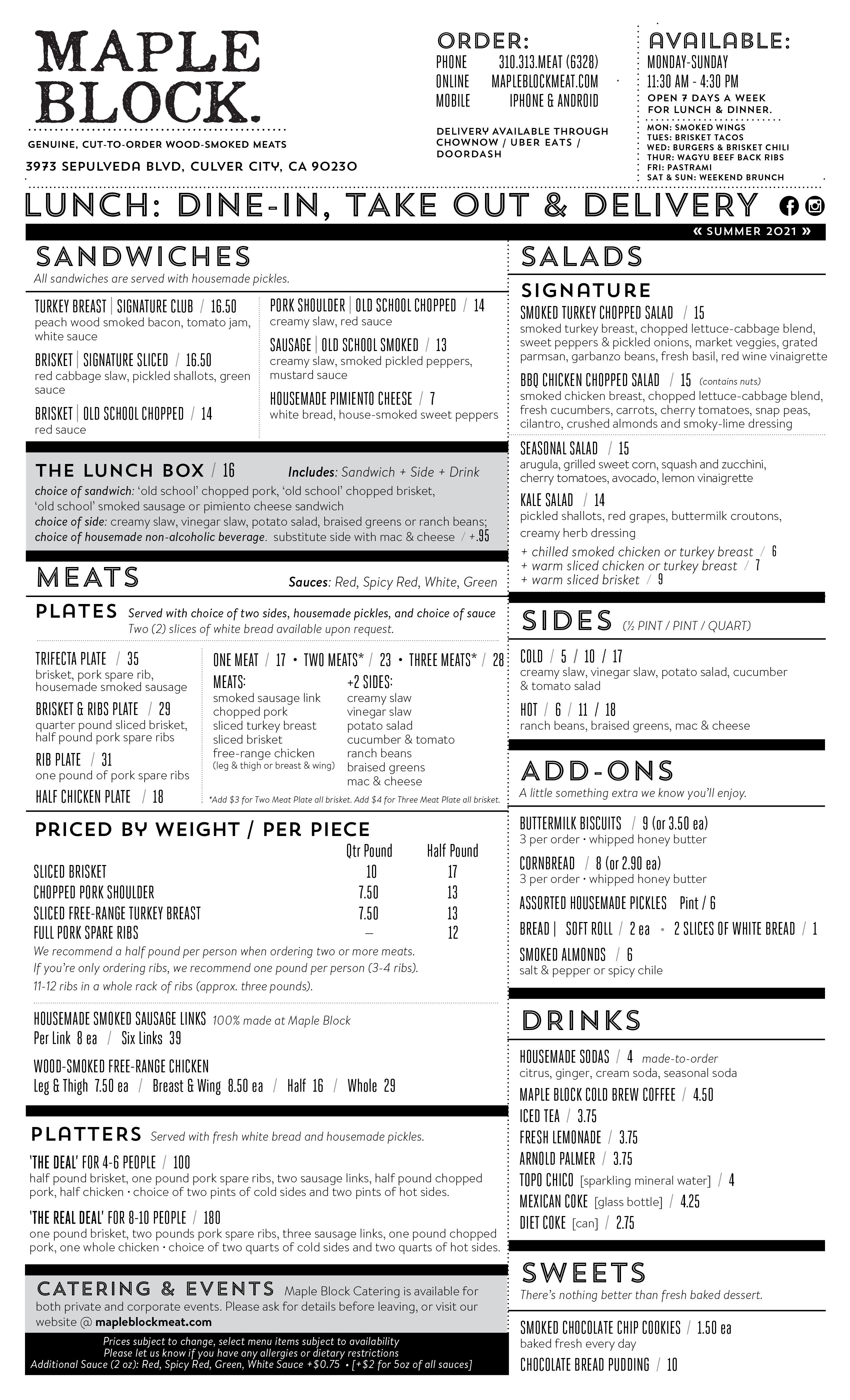 mapleblock menu
