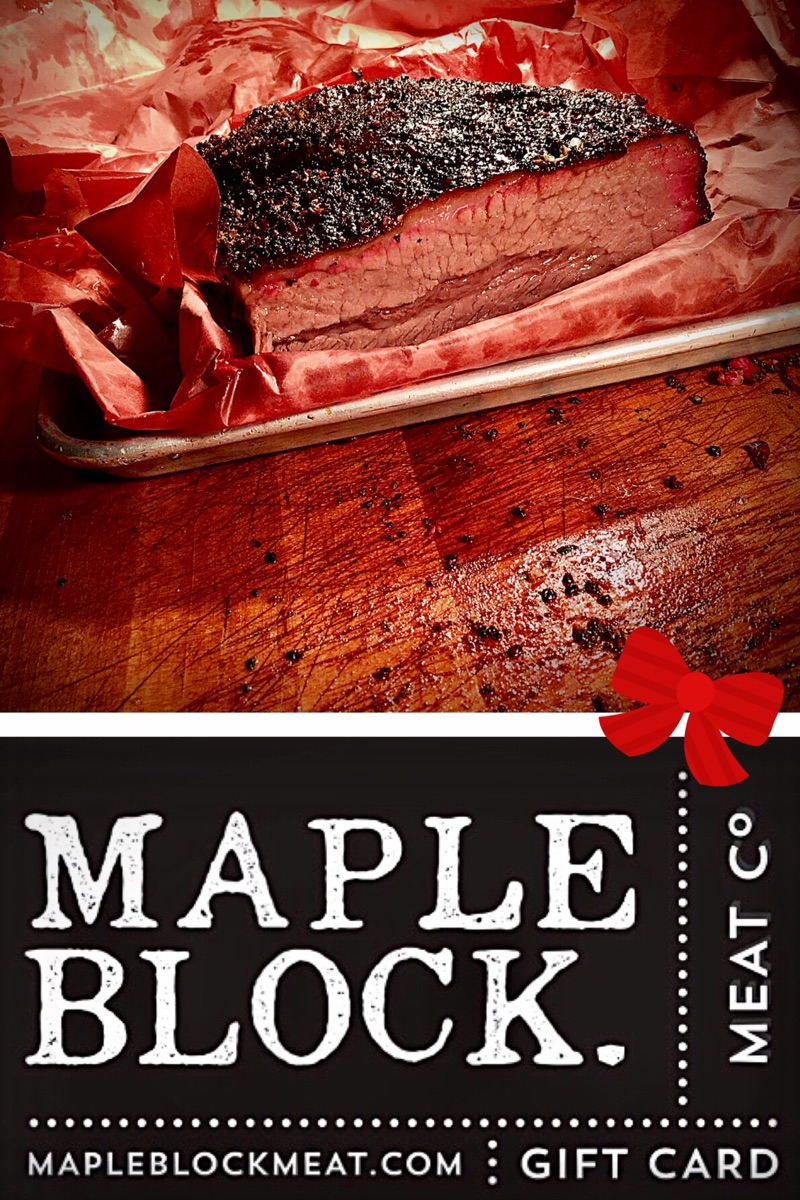 Maple Block Gift Cards_Chanukah Brisket_Holiday Catering