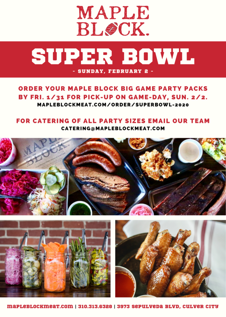 Super Bowl 2020_Maple Block_BBQ_takeout & catering