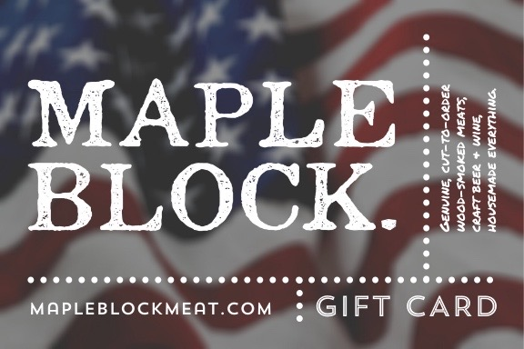 Maple Block Gift Cards