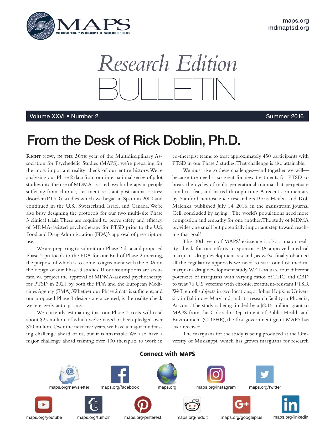 Summer 2016: Vol. 26, No. 2 Research Edition
