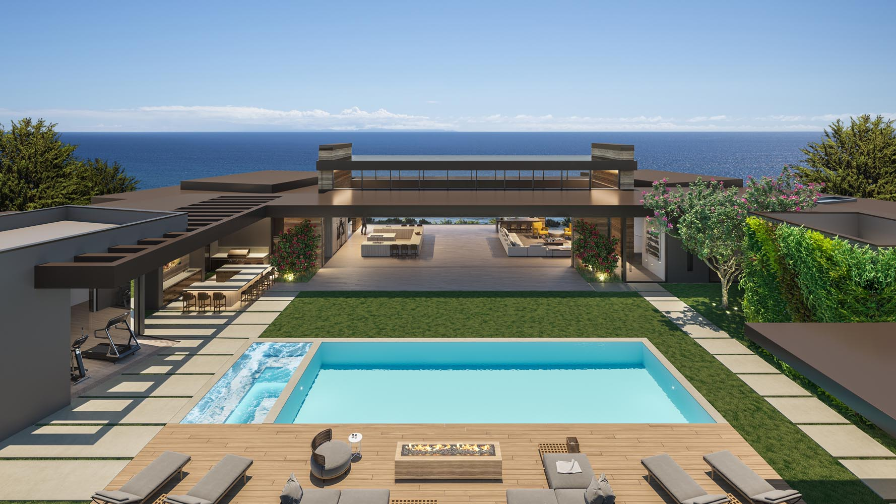 Lot 13 Marisol Malibu Aerial View