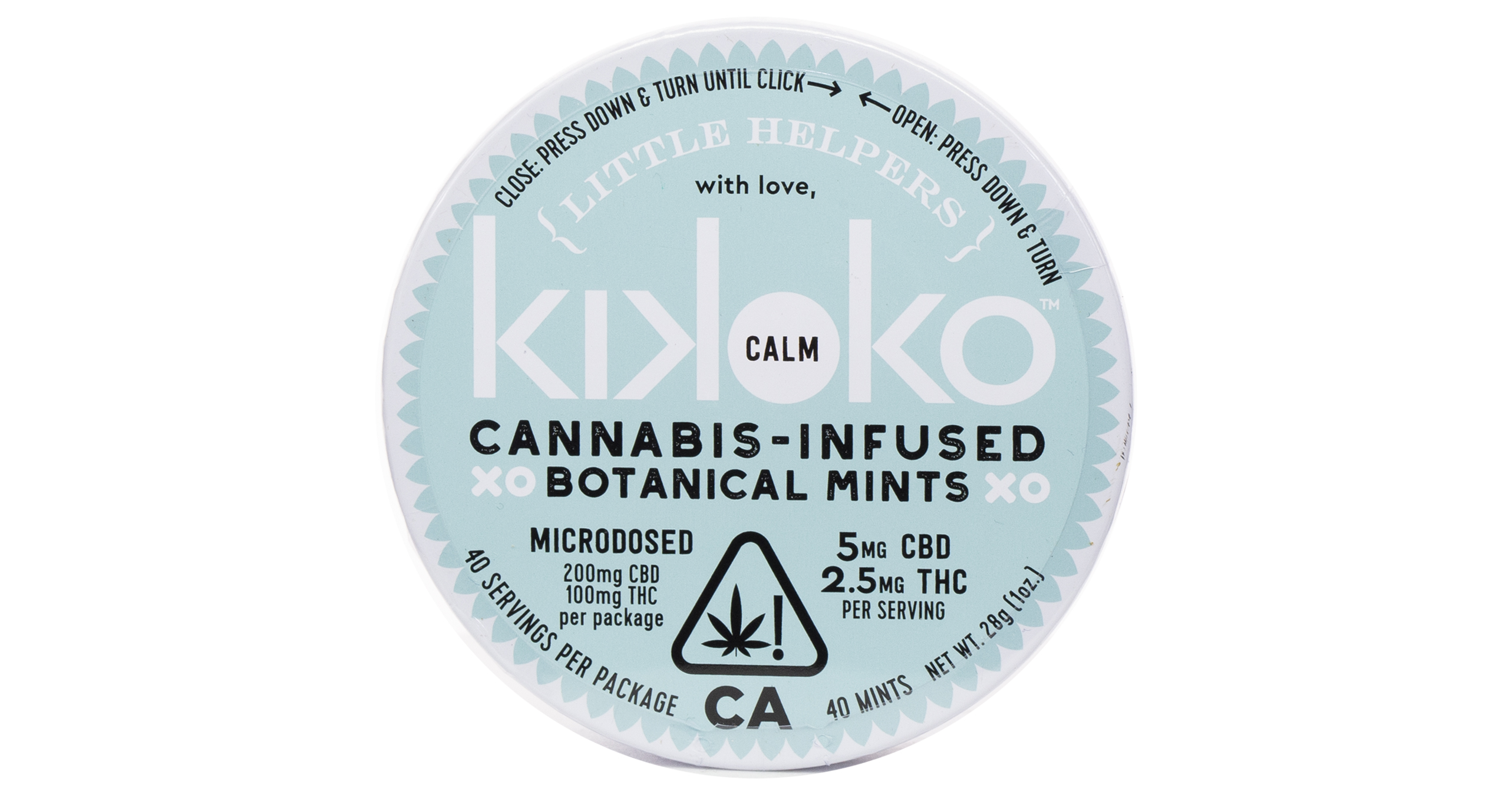 Kikoko Little Helpers Calm Mints 300mg San Diego Vista Imperial Cannabis Dispensary With Delivery March And Ash
