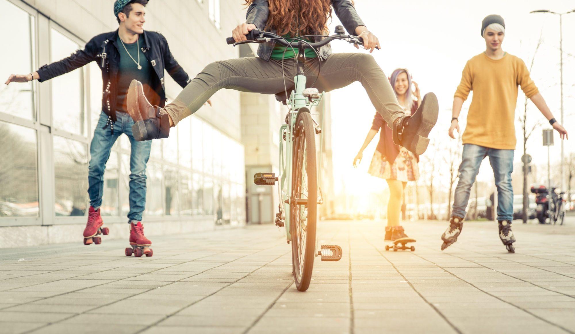 Skating Teens