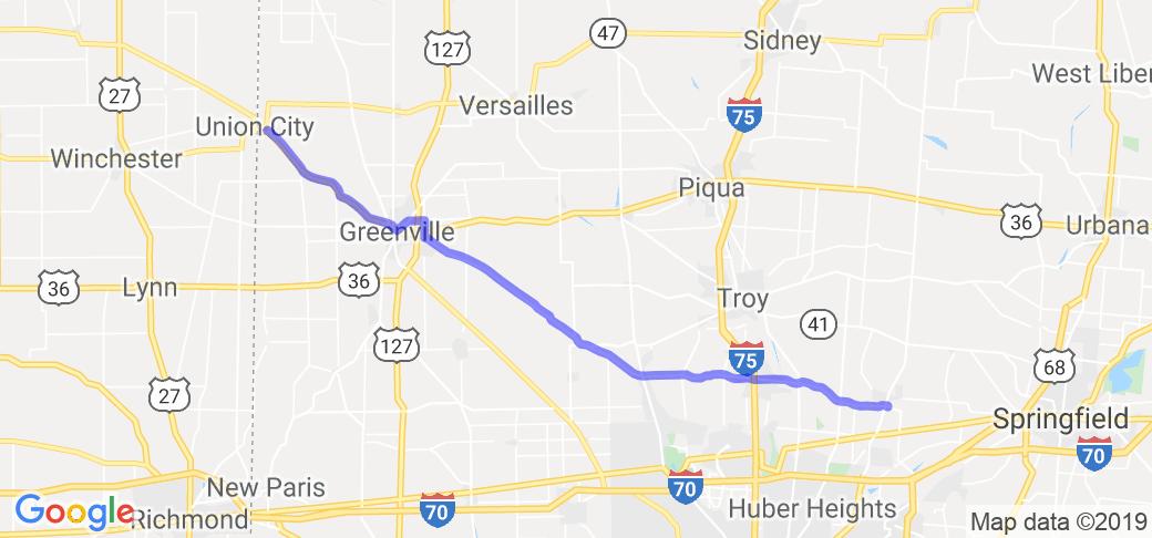 State Route 571 New Carlisle To Union City In Ohio Ohio