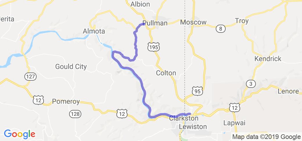 Snake River Washington Map.Wawawai Snake River Loop In Washington Washington Motorcycle Roads