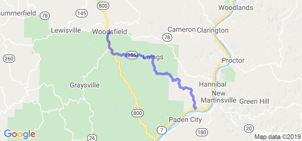 Woodsfield Ohio Map.Ohio Route 255 Woodsfield To Sardis In Ohio Ohio Motorcycle