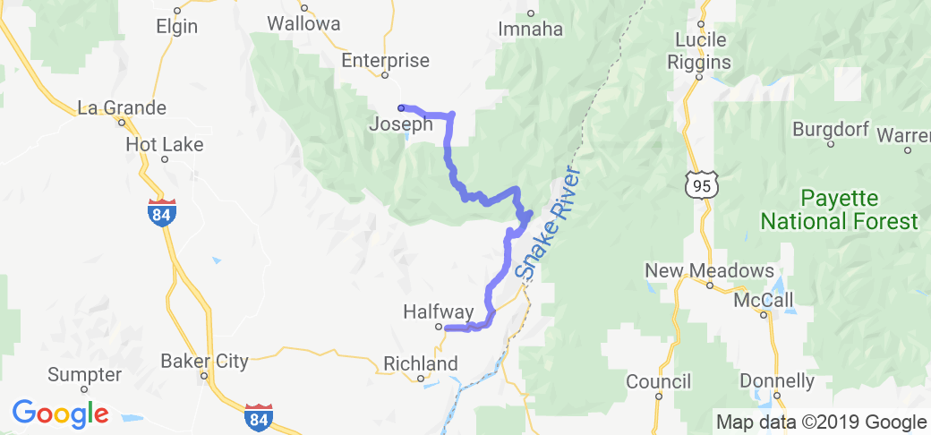Halfway Oregon Map.Hells Canyon Scenic Byway In Oregon Oregon Motorcycle Roads And