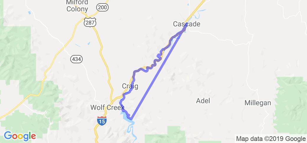 Cascade To Holter Lake Along The Missouri River In Montana Montana