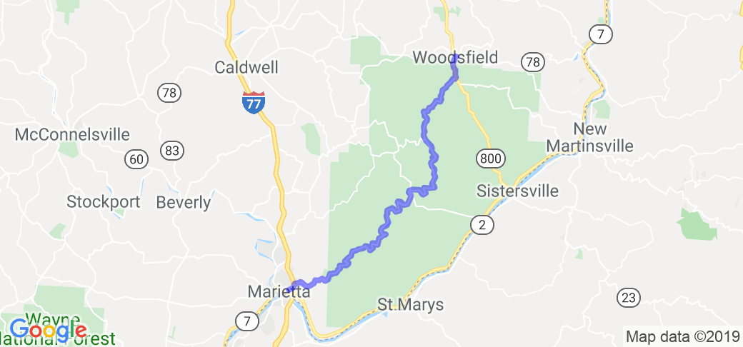 Woodsfield Ohio Map.Little Muskingum River Covered Bridge Tour In Ohio Ohio Motorcycle