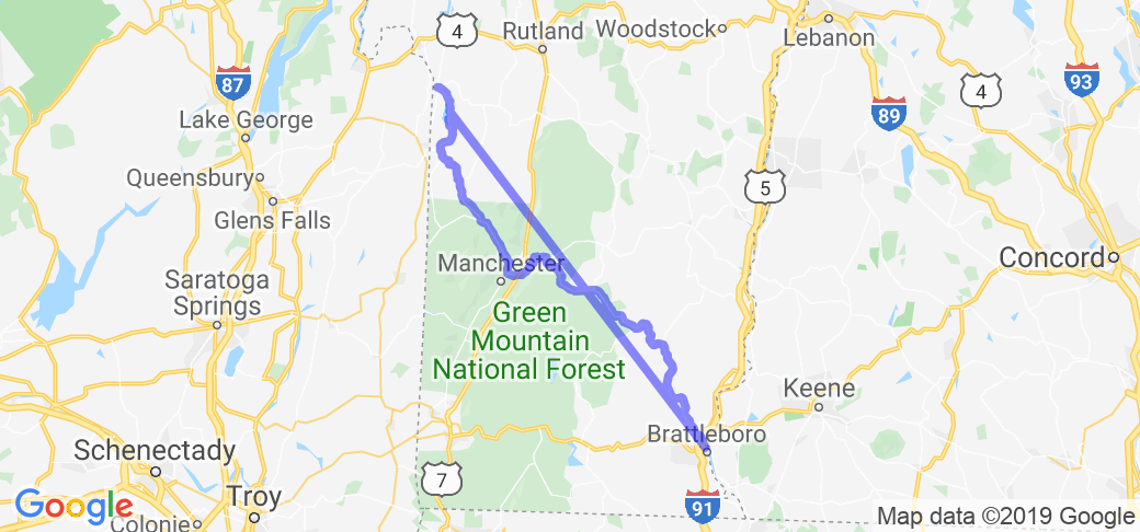 Map Of New York And Vermont.Vermont Covered Bridge Tour From Brattleboro To New York In