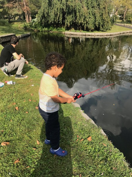 Our favorite fishing spot near our house