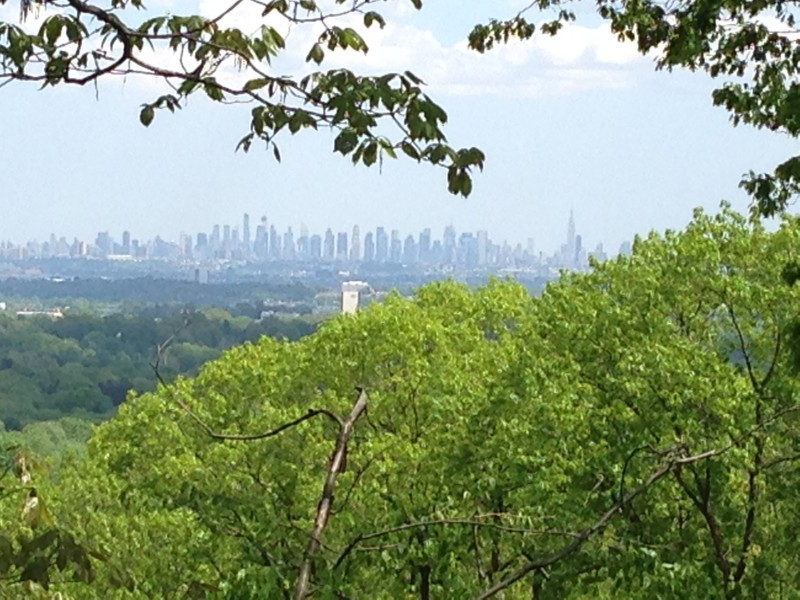 View of New York City from our town