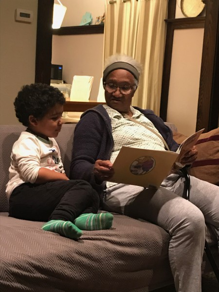 Reading time with Grandma