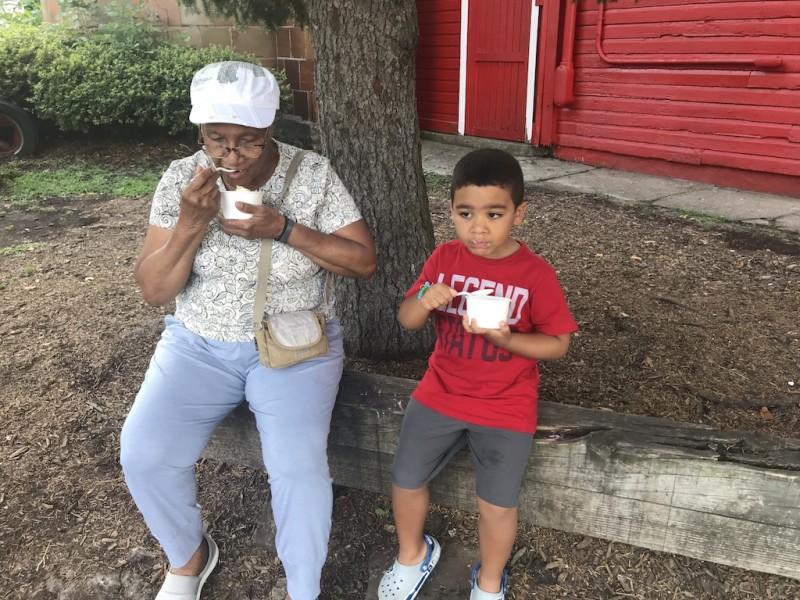 Summer ice cream with Grandma