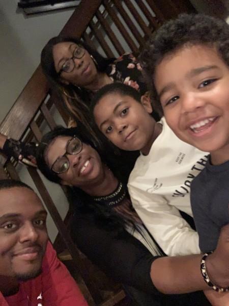 Auntie Claudette with the cousins